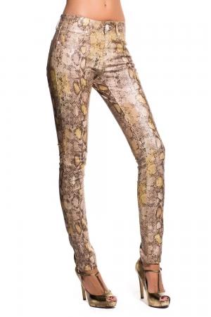 Pantalones con estampado de serpiente