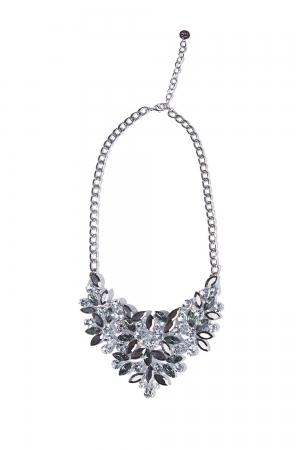Collar plata con diseño de piedras talladas