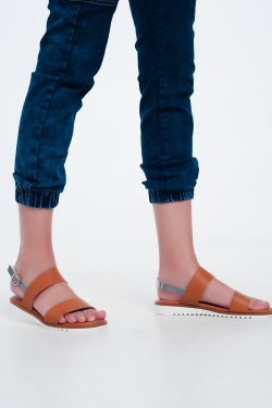 Flume flat sandals in camel
