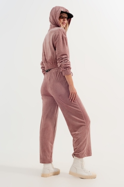 Jogger with drawstring waist in pink